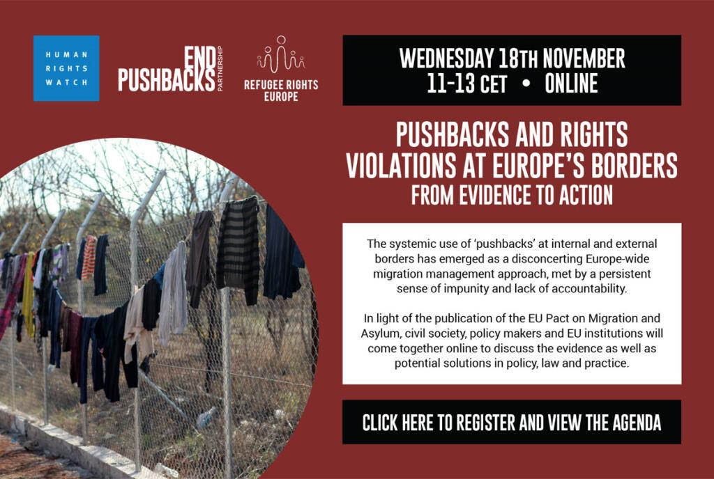 Conferenza: Respingimenti e violazioni ai confini europei